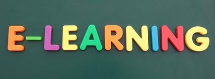 Aprendizaje electrónico Foto de archivo libre de regalías
