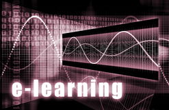 Aprendizaje electrónico Imagen de archivo libre de regalías