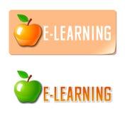 Aprendizaje electrónico. Icono de la educación Fotos de archivo libres de regalías
