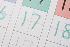 Aprendizaje escribir números Fotos de archivo libres de regalías