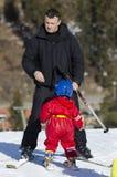 Aprendizaje esquiar Fotografía de archivo libre de regalías