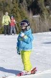 Aprendizaje esquiar Imágenes de archivo libres de regalías