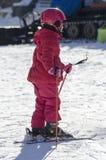 Aprendizaje esquiar Foto de archivo libre de regalías