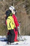 Aprendizaje esquiar Fotos de archivo libres de regalías