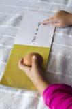 Aprendizaje leer inglés Foto de archivo libre de regalías