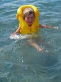 Aprendizaje nadar Imagen de archivo libre de regalías