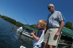 Aprendizaje pescar Imagen de archivo libre de regalías