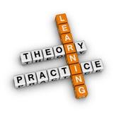 Aprendizaje - teoría y práctica Foto de archivo libre de regalías