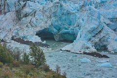 Aprendosi sotto forma di cuore sull'orlo di un ghiacciaio di Perito Fotografie Stock Libere da Diritti