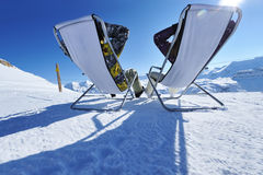 apres σκι βουνών Στοκ Εικόνες