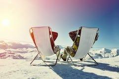 apres σκι βουνών Στοκ Εικόνα