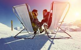 apres σκι βουνών Στοκ Φωτογραφία