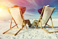 apres σκι βουνών Στοκ φωτογραφίες με δικαίωμα ελεύθερης χρήσης