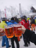 Apres narta Przy narciarstwo kurortem Zdjęcia Stock