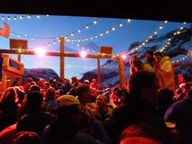 Apres-Ski im Freien Stockbild
