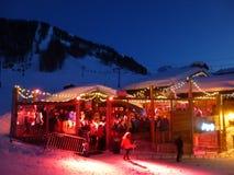 Apres-Ski im Freien Lizenzfreies Stockbild