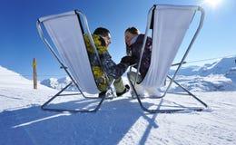 Apres ski at mountains Stock Image