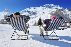 Apres ski at mountains Stock Photos