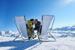 Apres ski at mountains Stock Images