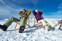 Apres ski at mountains Royalty Free Stock Photography