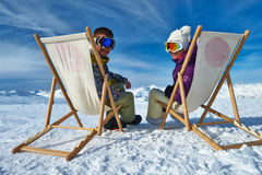 Apres ski at mountains Royalty Free Stock Images
