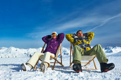 Apres ski at mountains Royalty Free Stock Photos