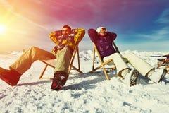 Apres ski at mountains Royalty Free Stock Images