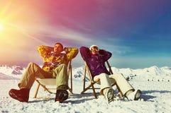Apres ski at mountains Royalty Free Stock Photo
