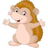 Apresentação bonito dos desenhos animados do ouriço Fotografia de Stock Royalty Free