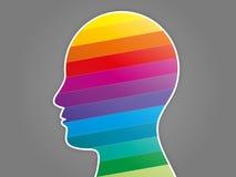 Apresentação colorida da cabeça do enigma do espectro do arco-íris Foto de Stock Royalty Free