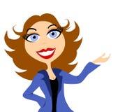 Apresentação da mulher de negócio ilustração stock