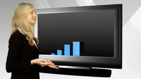 Apresentação da mulher de negócio vídeos de arquivo