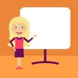 Apresentação da mulher de negócio ilustração royalty free