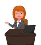 Apresentação da mulher de negócio dos desenhos animados Imagem de Stock Royalty Free