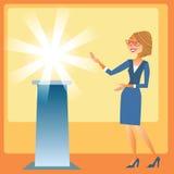 Apresentação das mulheres de negócios do tipo novo Foto de Stock