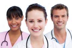 Apresentação de uma equipa médica diversa Fotos de Stock