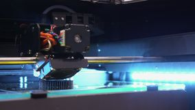 Apresentação do centro da exposição da operação do robô vídeos de arquivo