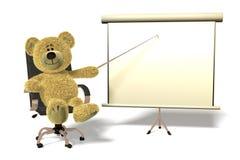 Apresentação do escritório do urso de Nhi. Foto de Stock Royalty Free