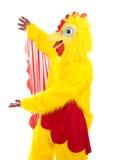Apresentação do homem da galinha Fotos de Stock Royalty Free