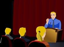 Apresentação do homem de negócios Ilustração Stock