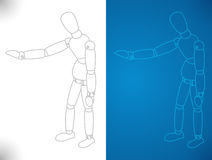 Apresentação do modelo dos artistas ilustração do vetor