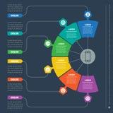 Apresentação do negócio com seis opções Molde da Web de uma Info-C ilustração royalty free