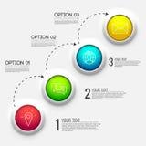 apresentação do negócio do diagrama de carta 3d Conceito de projeto realístico da ilustração do vetor Grupo de símbolos de Infogr Fotografia de Stock Royalty Free