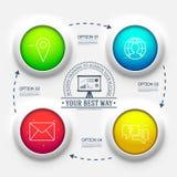 apresentação do negócio do diagrama de carta 3d Conceito de projeto realístico da ilustração do vetor Grupo de símbolos de Infogr Foto de Stock