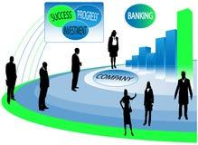 Apresentação do negócio, executivos ilustração royalty free
