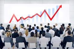 Apresentação do negócio global com Infographic Foto de Stock Royalty Free