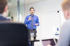Apresentação do negócio na reunião incorporada Foto de Stock