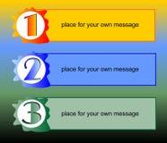 Apresentação do processo de trabalho em três etapas Imagens de Stock Royalty Free