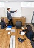 Apresentação do quarto de reunião Foto de Stock