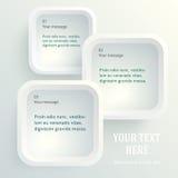 Apresentação-Molde-página-brochura-em-branco-arredondar-quadrados Fotografia de Stock